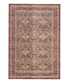 Look at this Red Dahlia Rug on #zulily today!