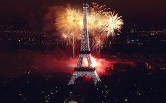 Fond écran Bonne Année - Fireworks Tour Effeil