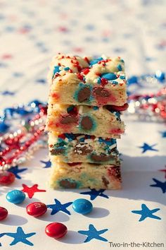 Patriotic Sugar Cookie Bars | Two in the Kitchen