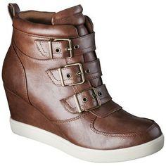Women's Mossimo Katley Sneaker Wedges - Cognac 7.5 (490960885609) Women's mossimo katley sneaker wedges - cognac 7.5