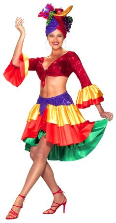 Carmen Miranda Costume Look - Mexican or Spanish Costumes