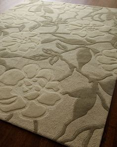 """""""Lady Floral"""" Rug, 5\'6"""" x 7\'5"""" at Horchow."""