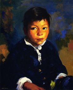 """Juanita,"" Robert Henri, 1917, oil on canvas, 24 x 20"", private collection."