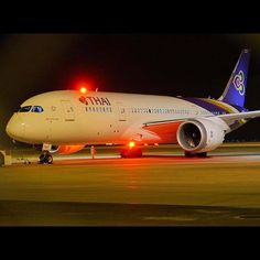 Dream L, Thai Airways, Commercial Aircraft, Volvo, Sweet Dreams, Photo Credit, Aviation, Bmw, Night