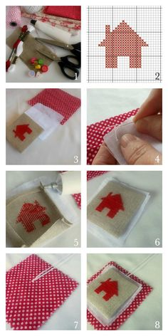 Tutorial for embroidered cross-stitch bookmarks