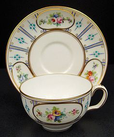 Charming Antique Minton Jeweled Tea Cup & Saucer
