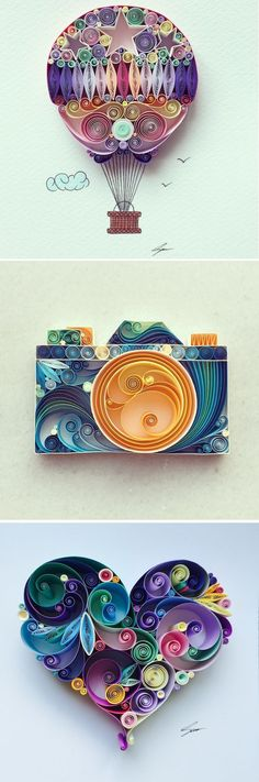 Paper quilling by Sena Runa // paper craft // paper art