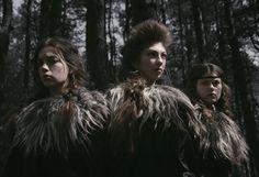 darkbeautymag:  Photographer: Nona LimmenStylist: BereklauwHair: Jerry GardenierModels: Charlotte, Manja, and Hella.