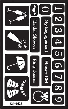"""Over 'n' Over Reusable Glass Etching Stencils 5""""X8"""" 1/Pkg-Numbers: Amazon.co.uk: Kitchen & Home"""