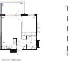 2 rooms with an open kitchen, bathroom and balcony (45m2) / Kaksio avokeittiöllä ja parvekkeella (45m2) #tehoneliöt #kaksio Floor Plans, Diagram, Floor Plan Drawing, House Floor Plans