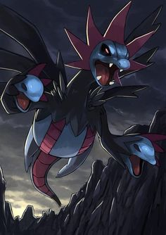 Hydreigon Giratina Pokemon, Kalos Pokemon, O Pokemon, Pokemon Fan Art, Pikachu, Pokemon Fusion, Pokemon Cards, Pokemon Backgrounds, Cool Pokemon Wallpapers