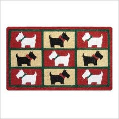 Doormat Designs Scotty Dogs Doormat