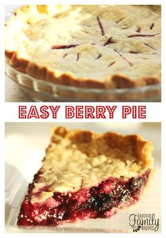 This Easy Berry Pie is... well, so easy! It just takes a few minutes to throw together and it is delicious! My family loved it and it made the whole house smell so good while it was baking in the oven. Who knew it could be so simple to throw together a pie for dessert!