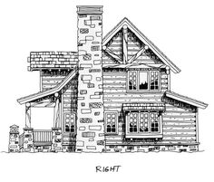 House Plan 43212 | Cabin Craftsman Log Plan with 1362 Sq. Ft., 2 Bedrooms, 2 Bathrooms