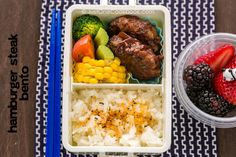 Hamburger Steak Bento ハンバーグ弁当
