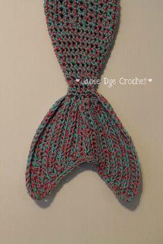 La manta de cola de sirena de Crochet ORIGINAL por jackiedye