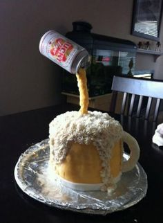 EVEN THOUGH I HATE ALCOHOL this is a neat cake, I could see Kool-Aid man pitcher for a kids cake ;) !~Jeanie
