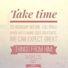 We can expect great things from God!