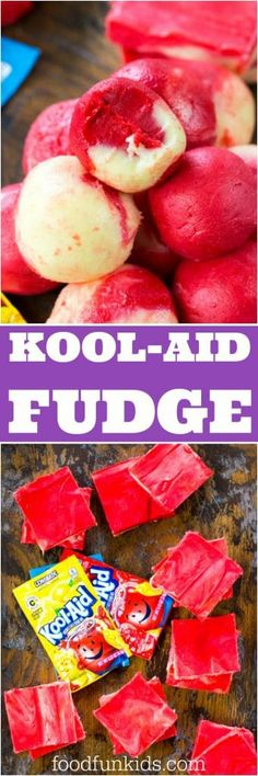 Kool Aid Fudge made with just 3 ingredients, is one of the easiest and fun projects you can make with kids.
