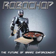RoboChop greeting card for Kinky Rhino Greeting Cards in South Africa #greetingcard #southafricancard #southafrica #card #robocop #braai #weber #bbq #barbeque #south #africa #chops