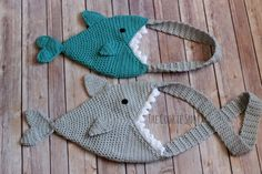 Shark Bag - free crochet pattern by Erin Sharp at The Cookie Snob.