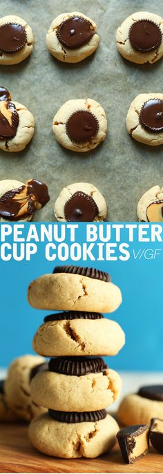 AMAZING Vegan GF Peanut Butter Cup Cookies made in 1 Bowl! #vegan #glutenfree #peanutbutter #chocolate #cookies #recipe