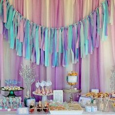 Kristina G's Birthday / Mermaid - Whimsical Mermaid Soiree at Catch My Party Party Box, Party Time, Soiree Party, Festa Party, Little Mermaid Birthday, Little Mermaid Parties, 1st Birthday Parties, Birthday Ideas, Decoration