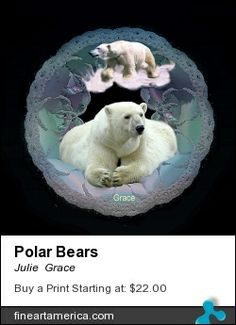Abstract background with polar bears. Part of my abstract/animal series.