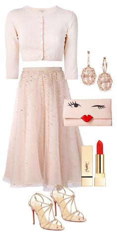 Blush party outfit