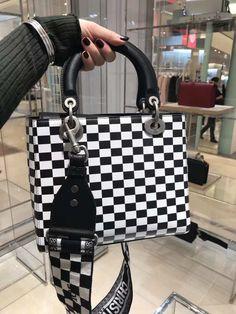 a29bc42c1844 Supple Lady Dior Black White Printed Calfskin Bag
