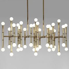 Meurice Rectangular Chandelier by Jonathan Adler Lighting at Lumens.com