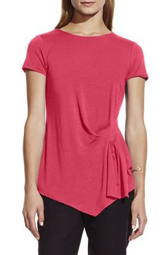 Vince Camuto Side Pleat Asymmetrical Top available at #Nordstrom