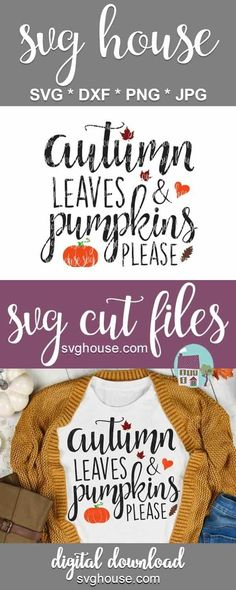 Autumn Leaves And Pumpkins Please SVG Files For Cricut And Silhouette #svg #svgcutfile #cricut #cutfiles #craft #crafts #craftideas #crafts #handmade #homemade #homemadegifts #heattransfervinyl #vinylprojects #cricutprojects #harvest #fall #falldecor #pumpkin #pumpkindecor #pumpkins #thanksgiving #autumn #leaves #pumpkinspice Vinyl Projects, Fall Projects, Pumpkin Decorating, Fall Decorating, Fall Crafts, Diy And Crafts, Cricut Tutorials, Cricut Ideas, Svg Files For Cricut