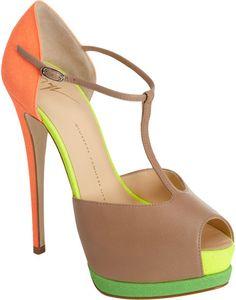 72d38a5428a29b Fluorescent T-Strap Platform Sandal - Lyst  heels  shoes Fab Shoes