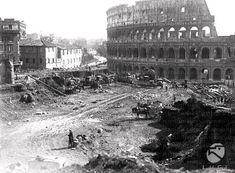 Demolizioni e spianamento della collina Velia tra Colosseo e piazza Venezia per la costruzione di via dell'Impero (attuale via dei Fori Imperiali)  17.02.1932
