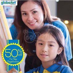 """Diskon 50% Pendaftaran di Global Art dari Harga Normal Rp 500.000 . Global Art adalah kursus seni no. 1 di dunia yang berada di 16 negara dan lebih dari 100 cabang di Indonesia. Salah satu perbedaan Global Art dengan tempat kursus lainnya adalah terus membimbing anak berkreasi dan mengungkapkan imajinasi mereka dengan metode dan kurikulum terperinci. Buruan ajak anak-anak Anda bergabung bersama kami dapatkan juga promo menarik """"Diskon 50%"""" untuk Biaya Pendaftaran. Promosi berlaku untuk pemilihan hari kursus :  Hari Selasa - Kamis (Global Art Purimas)  Hari selasa - Jumat (Global Art Top 100 Penuin) .  Biaya Pendaftaran = Rp 500.000 (sebelum diskon) . Segera Hubungi Tim Kami :  Purimas = 07787431205 / WA 081266249922  Top 100 = 07784085048 / WA 082223211198   Category: Other  CARA NIKMATI PROMO:  Install GoDeal di Appstore & Playstore  Cari merchant  globalart""""  Klik promo utk ambil kuponnya  Tunjukin kuponnya dan nikmati diskon  Free  Gampang  Instant   ℹ Jangan lupa isi Review setelah kupon di-scan. Anda dapat Cashback (selain diskon) tambahan dihitung dari nilai transaksi netto (setelah diskon sebelum pajak & svc chg.)   Share deal ini ke teman-teman anda jgn lupa berbagi foto anda pake tag #weLoveGodeal apabila sdh pake kupon GoDeal memiliki rasa kebersamaan dan membantu Batam Local Merchant! Creative"""