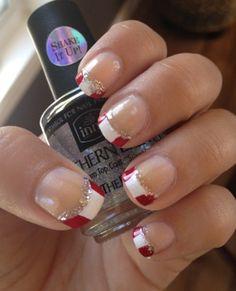 Relatively Easy Canada Day Manicure :) Dot Nail Art, Polka Dot Nails, Holiday Nail Designs, Gel Nail Designs, Nail Manicure, Gel Nails, Manicure Ideas, Love Nails, How To Do Nails