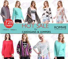 PROMOÇÃO Relâmpago #Romwe - Apenas 72 horas!  Cardigans e Jumpers com até 50% de desconto.   Romwe Hot Sale for Cardigans & Jumpers  Up to 50 %off Valid dates: Sep17 to Sep19 Only 72 hours!!Don't miss, girls!