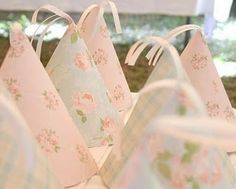 oh shabby chic party hats