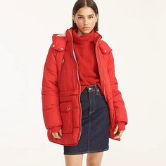 J.Crew: Chateau Puffer Jacket With PrimaLoft® For Women