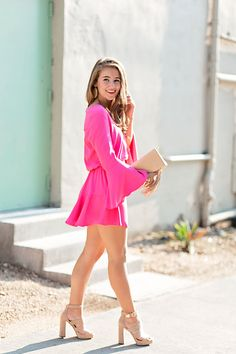Pink Bell Sleeve Dress By Lonestar Southern Source by socialroot Dresses Preppy Mode, Preppy Style, Fall Outfits, Cute Outfits, Girl Fashion, Fashion Outfits, Style Fashion, Fashion Tips, Sexy Legs And Heels
