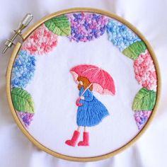 いいね!1,126件、コメント17件 ― @yula_handmade_2008のInstagramアカウント: 「* . 先日投稿した傘の女の子作品が完成しました♪ . .…」