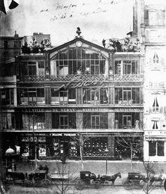 Lo studio di Nadar (dove nel 1874 si tenne la prima esposizione degli Impressionisti), fotografia, Nadar.
