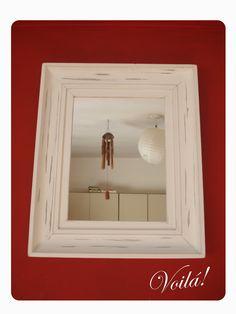 •Espejo Piur•  Espejo de pared. Marco con contramarco.