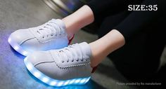 Women's LED Light Up Lace Up Shoes Sneakers (Size 35/White) Footwear 5097006 - https://xtremepurchase.com/TechStore/2016/09/01/sports-outdoors-footwear-5097006/
