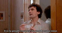 """haidaspicciare: """"Massimo Troisi e Olimpia Di Maio, """"Scusate il ritardo"""" (1983). """""""