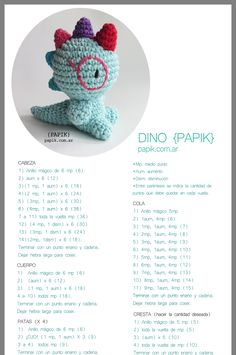 (notitle) Learn the fact (generic term) of how to crochet, starting at the very beginning. Crochet Dinosaur Patterns, Crochet Bunny Pattern, Crochet Amigurumi Free Patterns, Cute Crochet, Crochet Crafts, Crochet Dolls, Crochet Baby, Knitting Projects, Crochet Projects