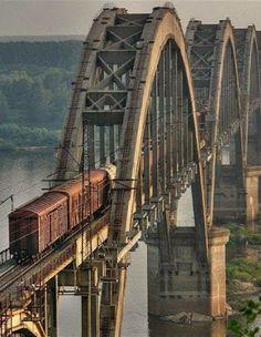 Train Bridge----traveling the rails By Train, Train Tracks, Locomotive, Magic Places, Old Bridges, Railroad Bridge, Railroad Tracks, Train Times, Old Trains