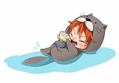 Kawaii Chibi, Anime Chibi, Anime Manga, Anime Guys, Anime Art, Momotarou Mikoshiba, Makoharu, Swimming Anime, Splash Free