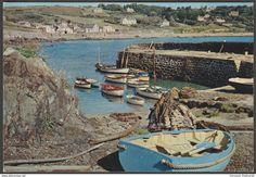 Coverack Harbour, Cornwall, c.1960s - J Arthur Dixon Postcard